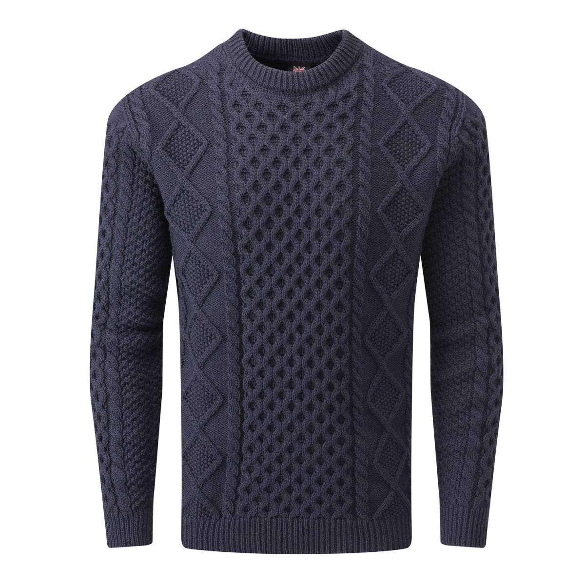 Gloverall Navy Men's Aran Jumper