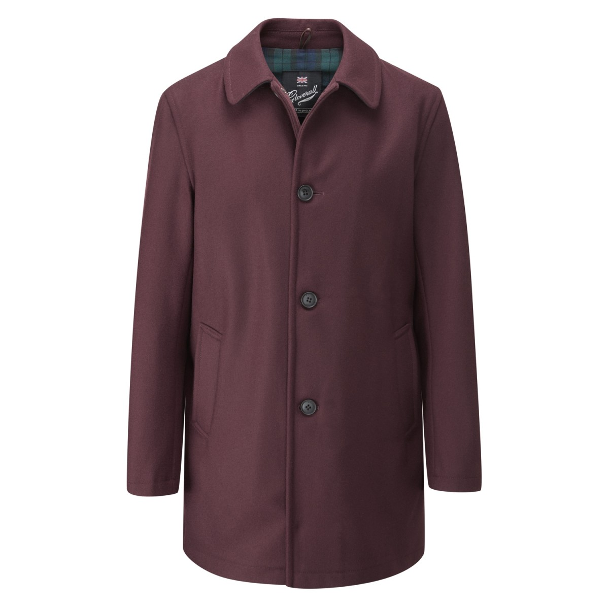 Gloverall Burgundy Men's Casual Overcoat