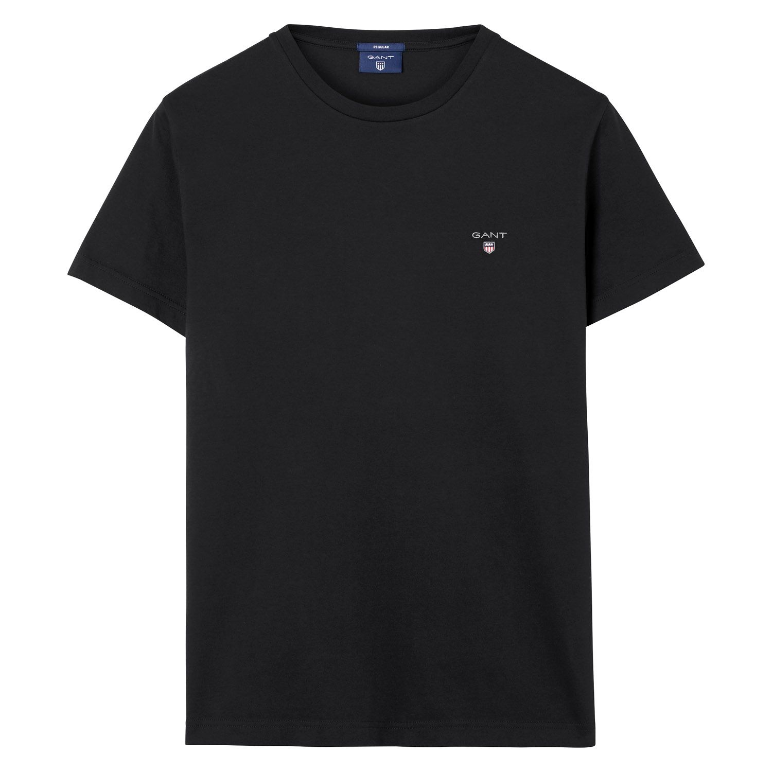 GANT Black Solid T-Shirt