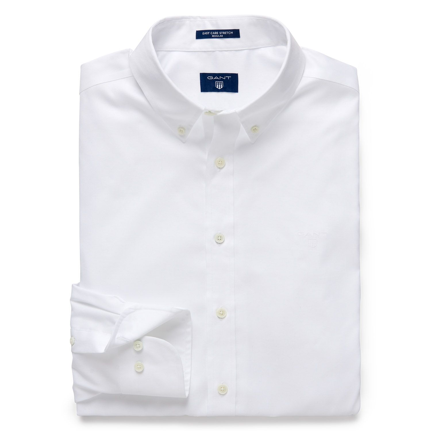 GANT White Regular Fit Pinpoint Oxford Shirt