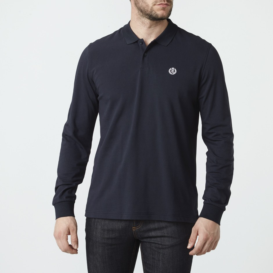 Henri Lloyd Navy Musburry Regular Ls Polo