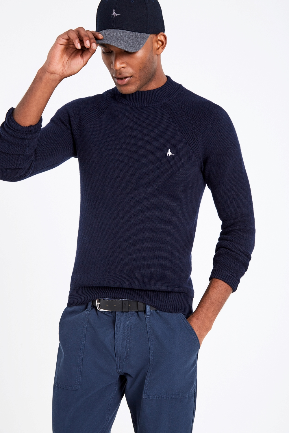 Jack Wills Navy BRIERCLIFFE HIGH NECK JUMPER