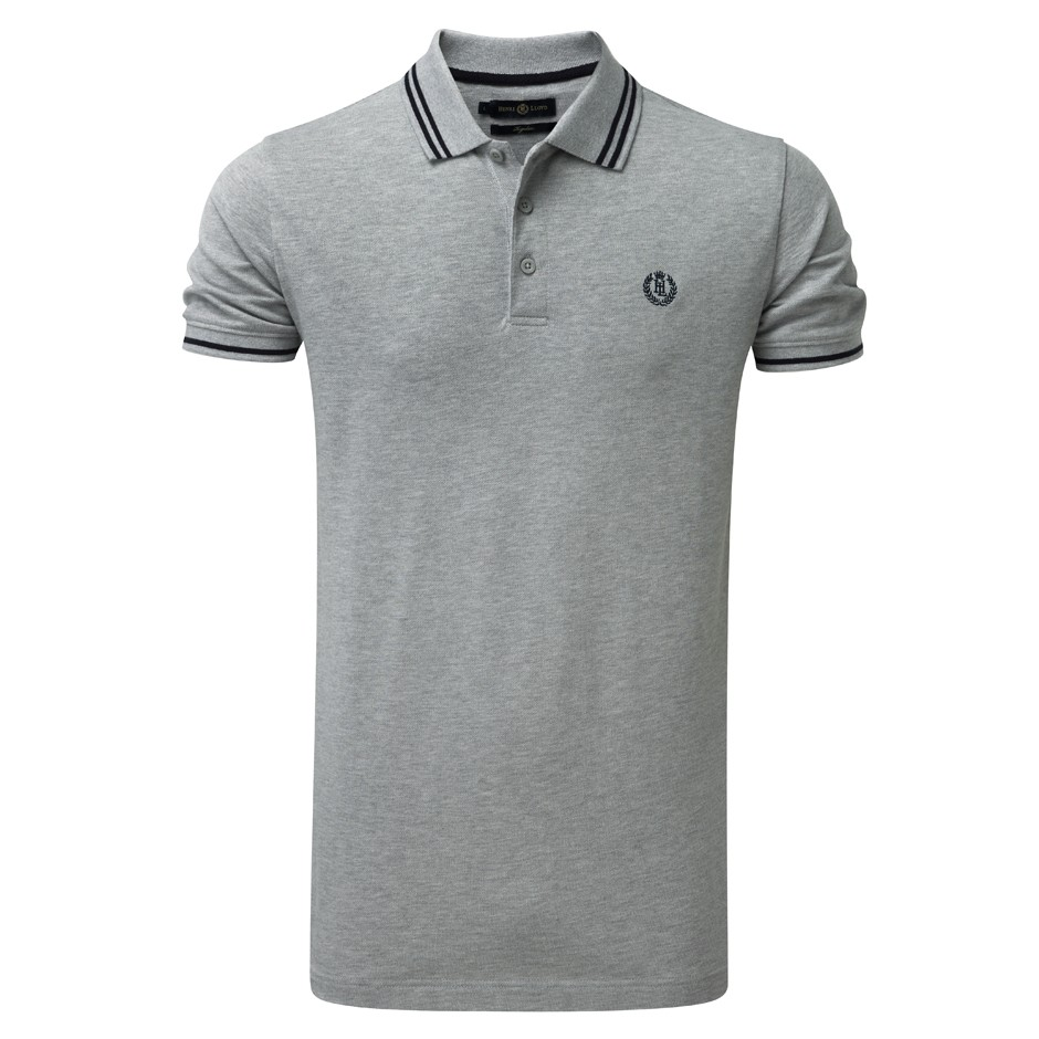 Henri Lloyd Grey Marl Byron Regular Polo