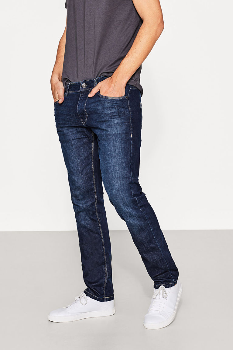 Esprit Blue dark washed - 901 Stretch jeans in organic cotton