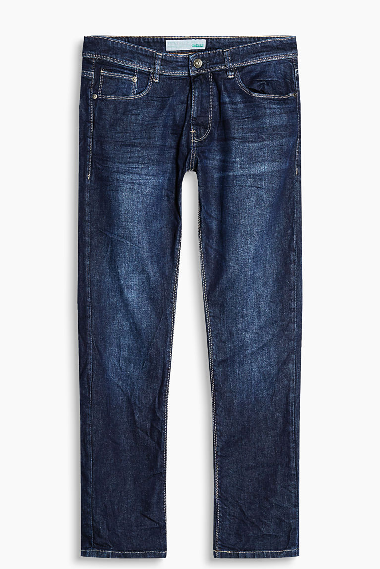 Esprit Blue dark washed Stretch jeans in organic cotton