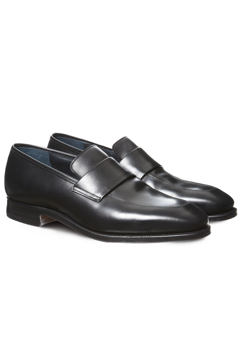Richard James Shoes - Black Walton Loafers