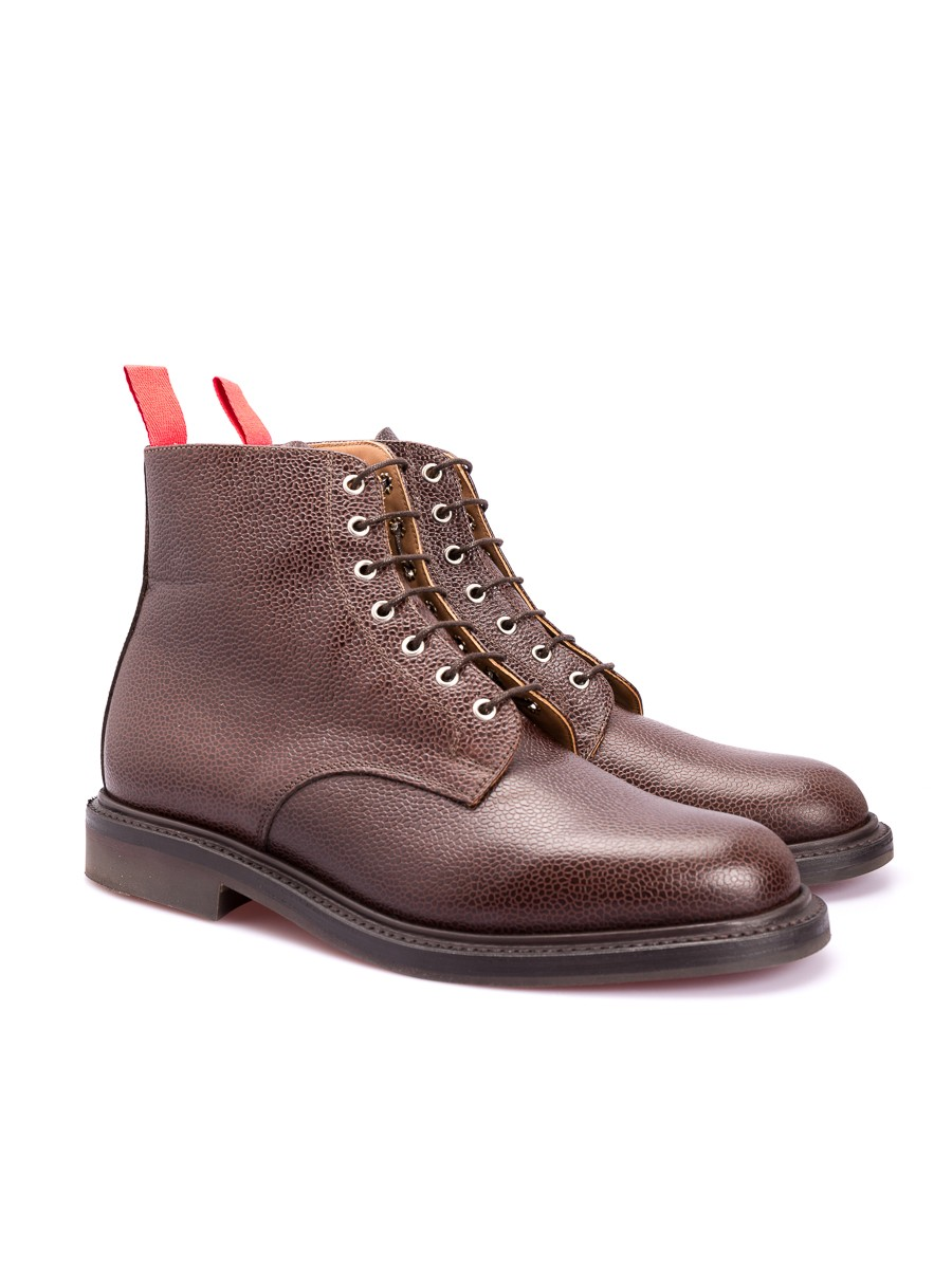 Oliver Spencer OSF54 Full Grain Derby Boot Chocolate Leather