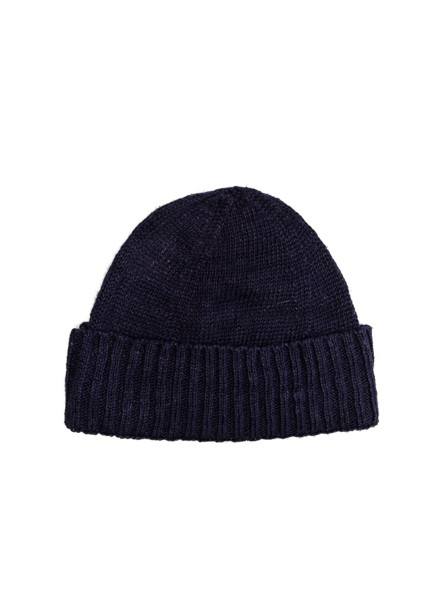 Oliver Spencer Knitted Hat Navy OSA386