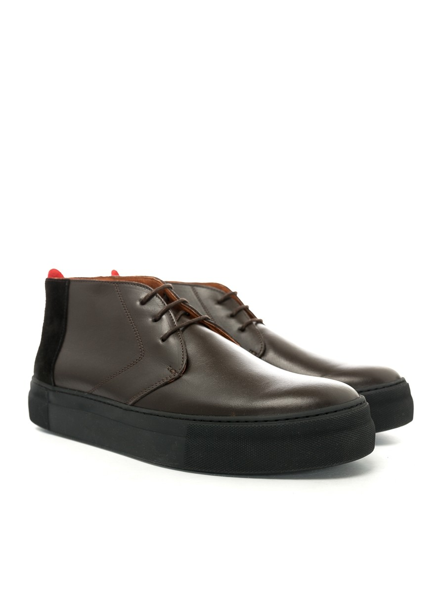 Oliver Spencer Beat Boot Leather Chocolate