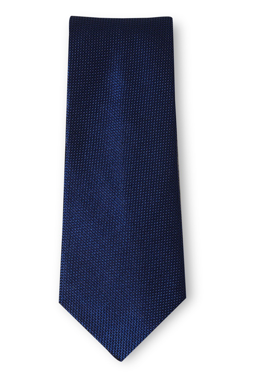 Richard James Slim Richard James Tie - Blue Grenadine Weave Silk