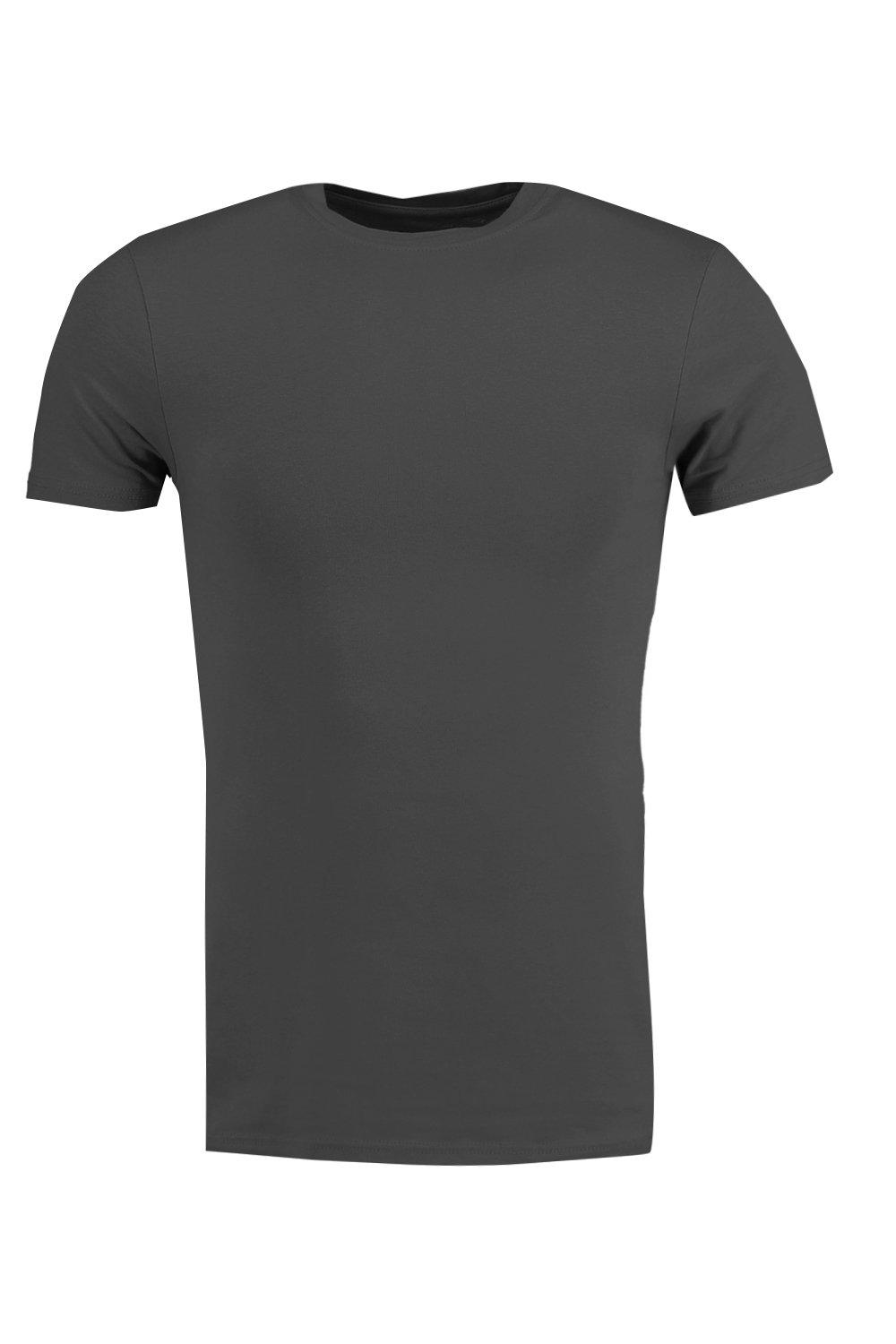boohooMAN black Muscle Fit Crew Neck T Shirt