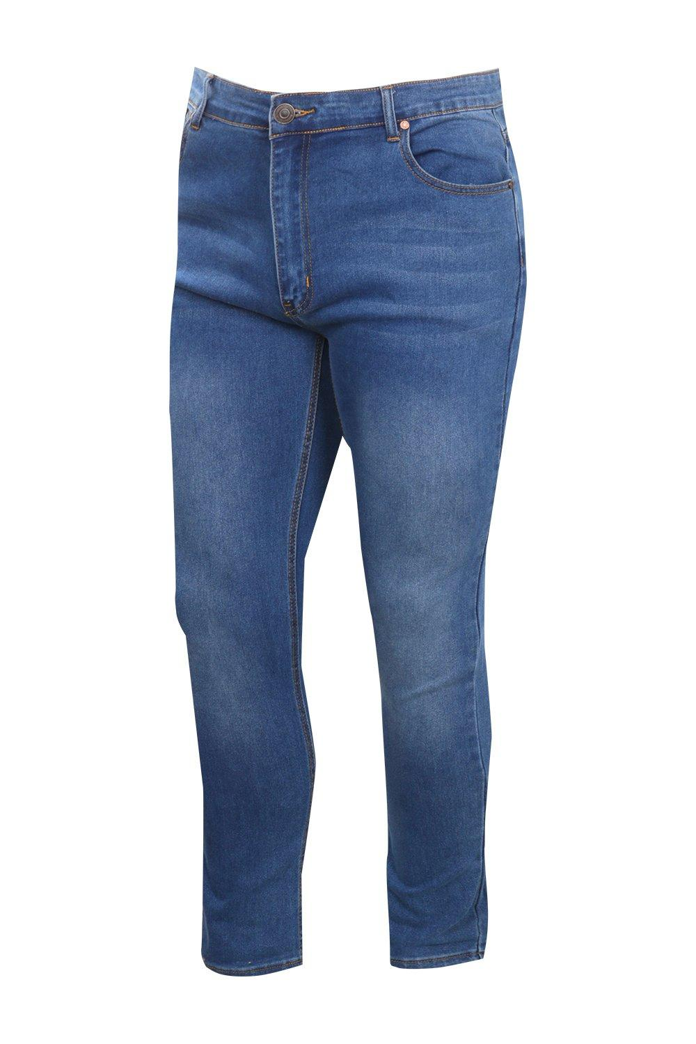 boohooMAN Big And Tall Blue Skinny Fit Washed Jeans