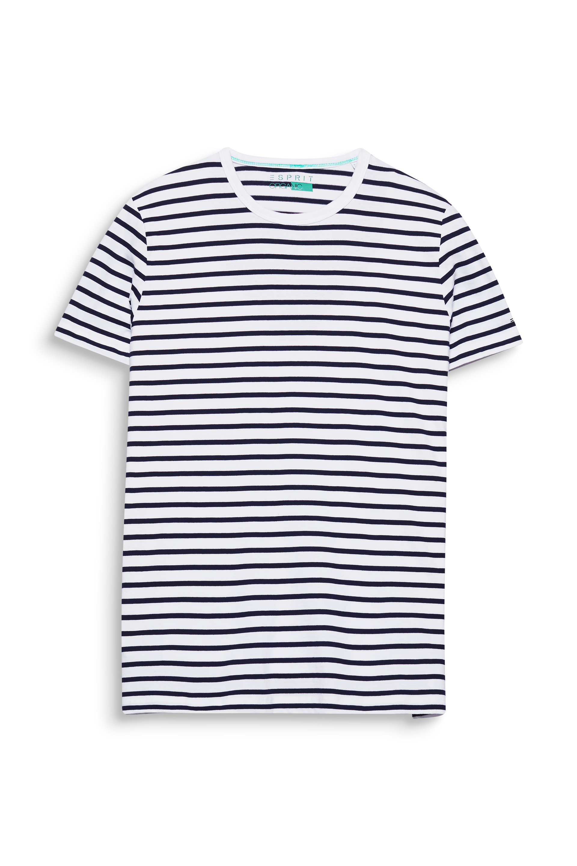 Esprit White100 Striped T-shirt In Organic Cotton