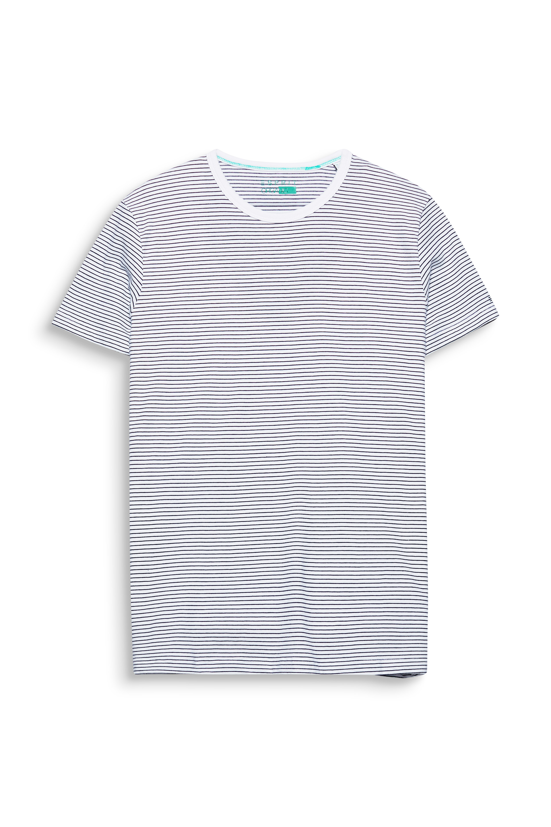 Esprit White101 Striped T-shirt In Organic Cotton