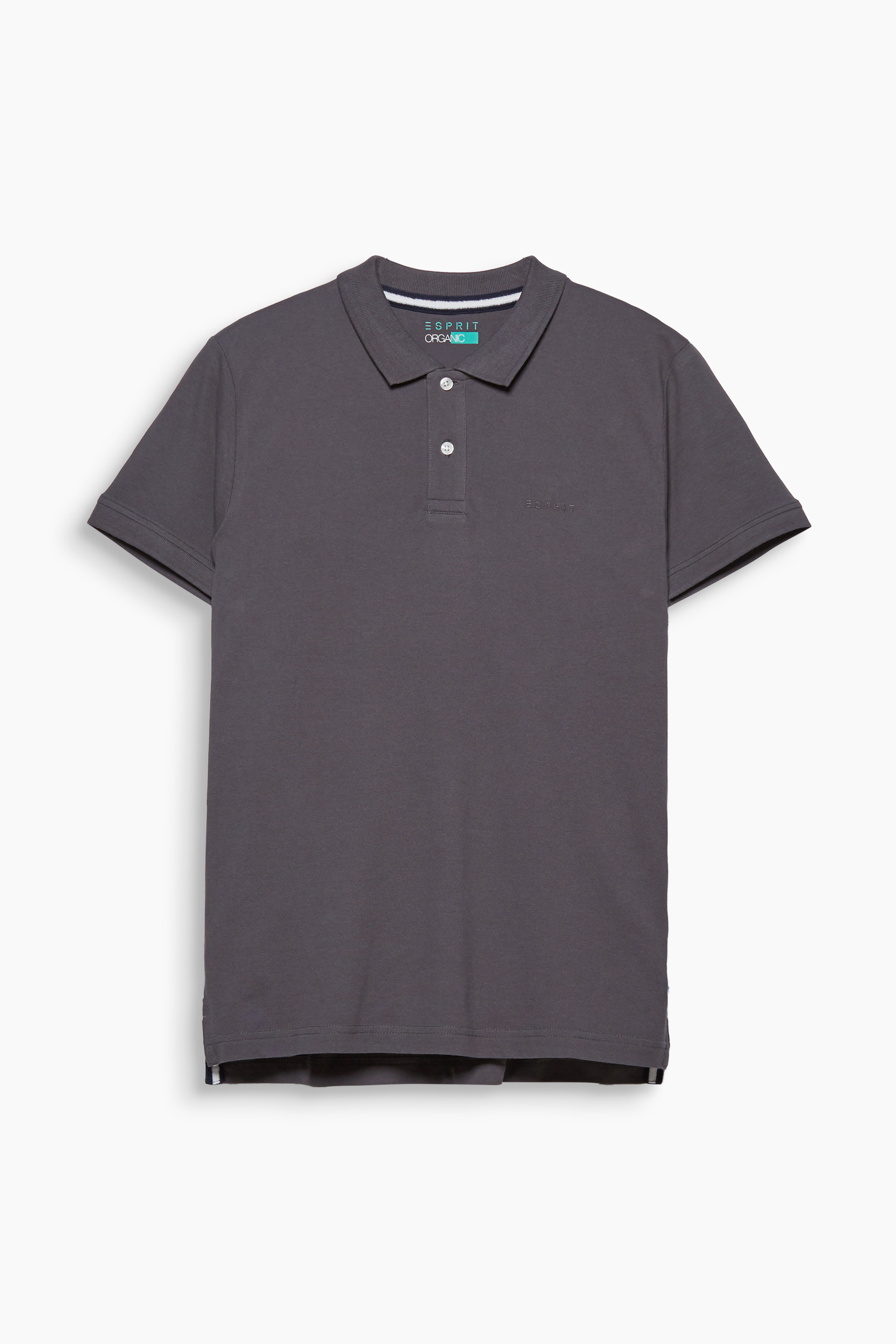 Esprit Dark Grey 020 Piqué polo shirt in organic cotton