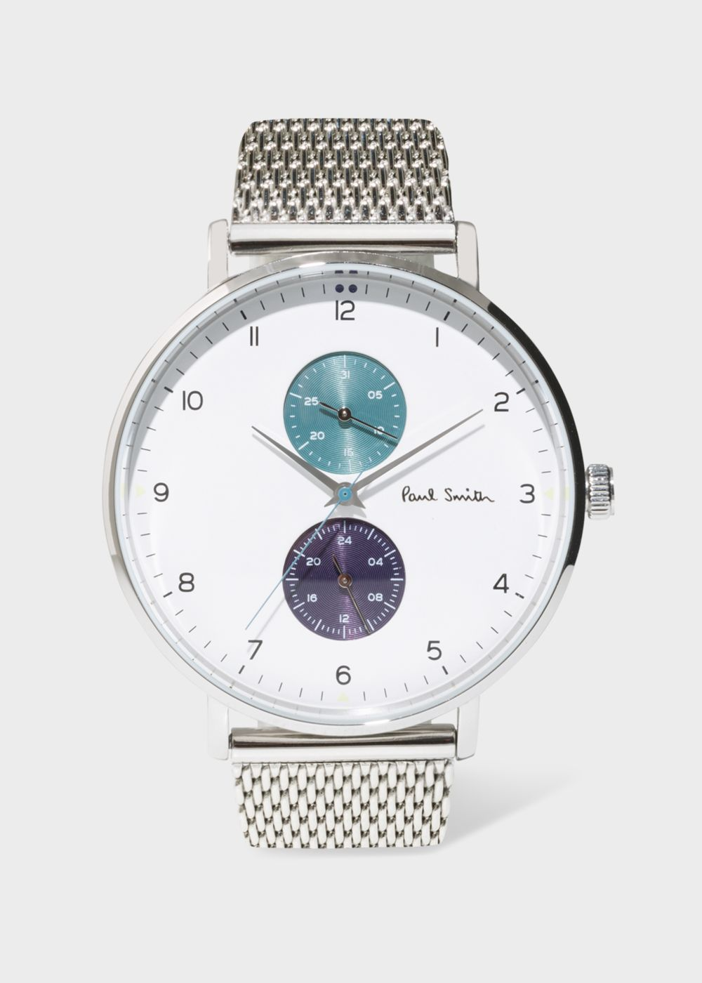 Paul Smith Men's White And Stainless Steel 'Track' Watch
