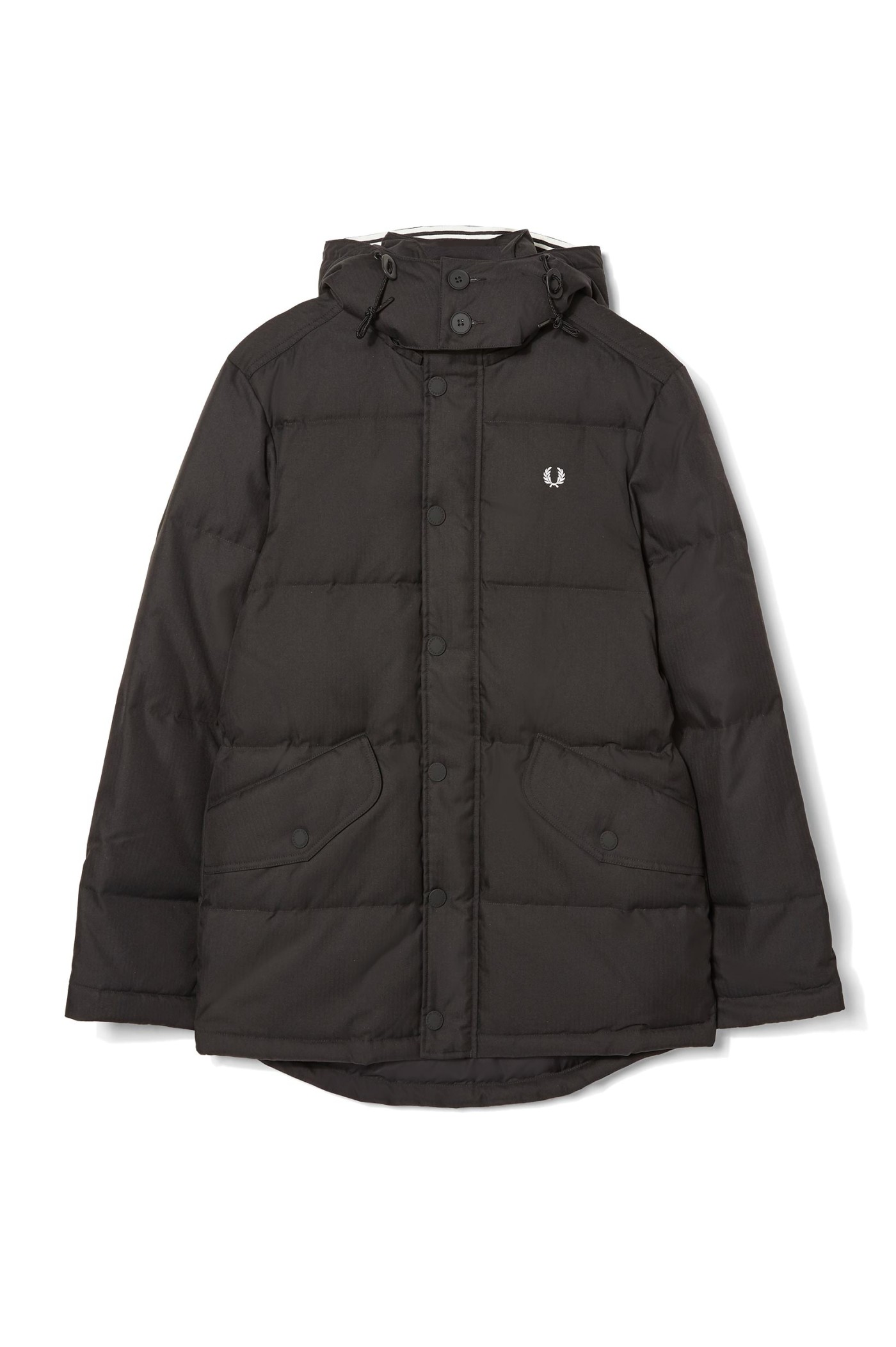 Fred perry black down filled parka jacket