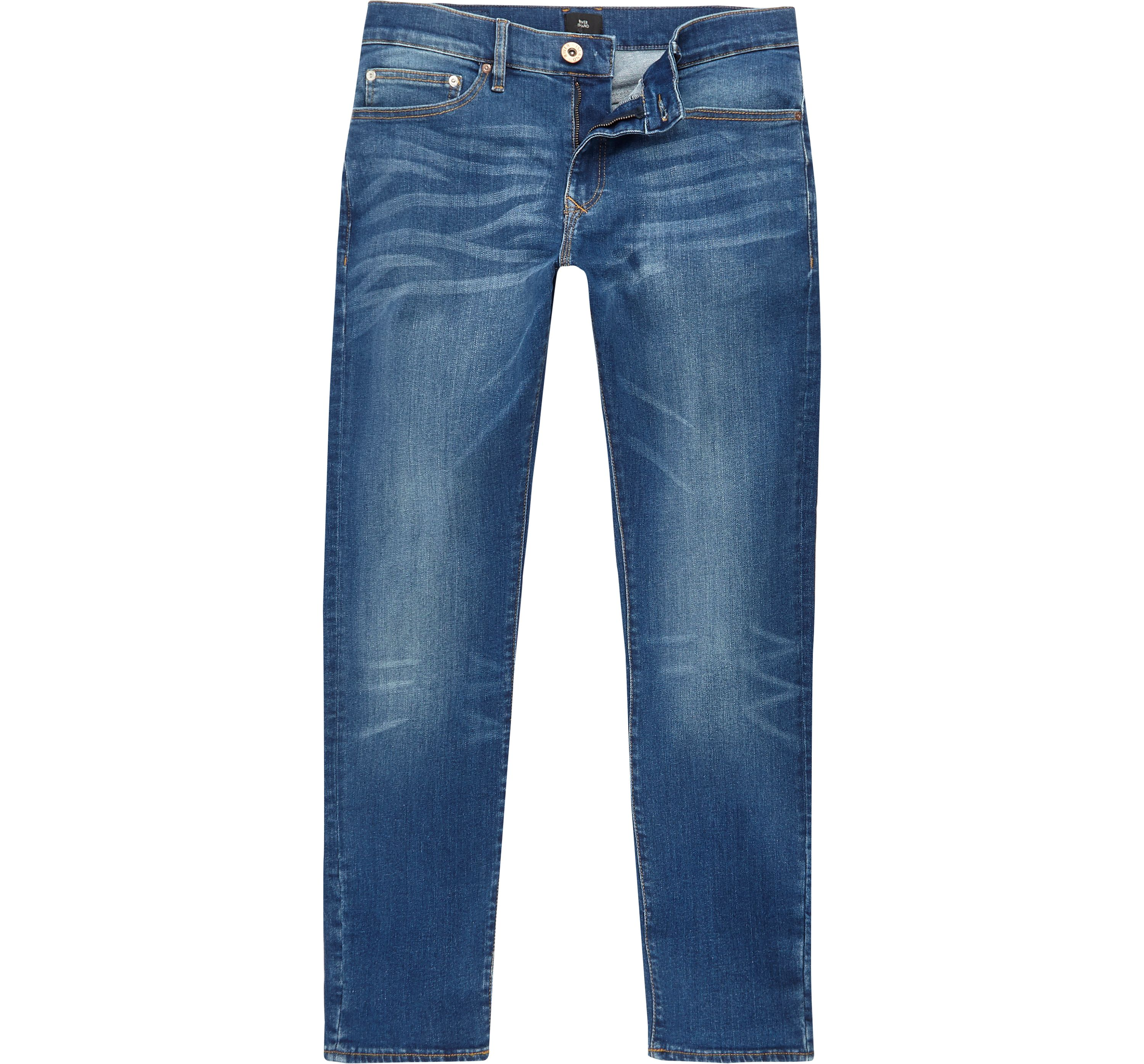 River Island Mens Mid Blue Dylan slim fit jeans