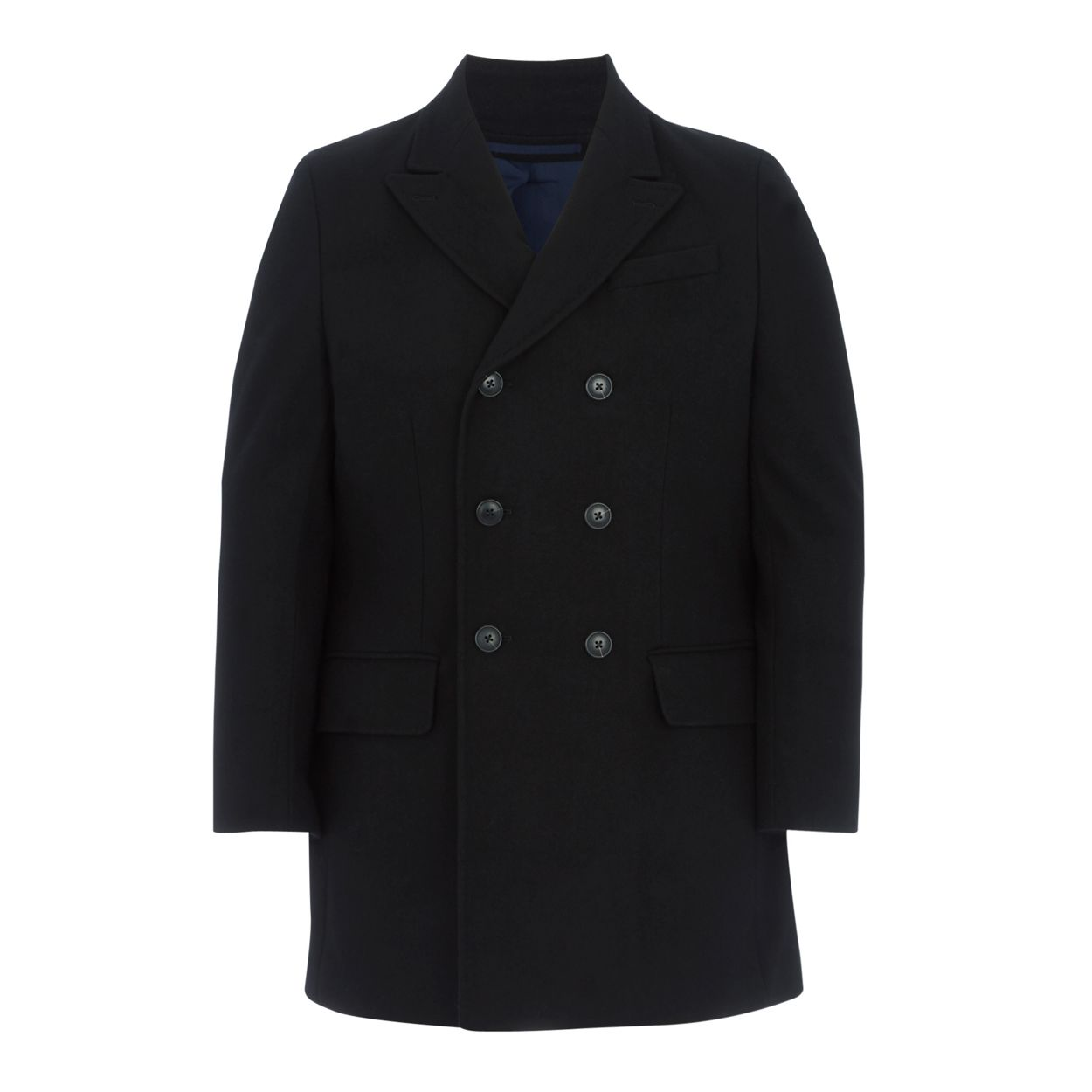 f00b8721192bc Black double-breasted wool rich coat by J... — Thread