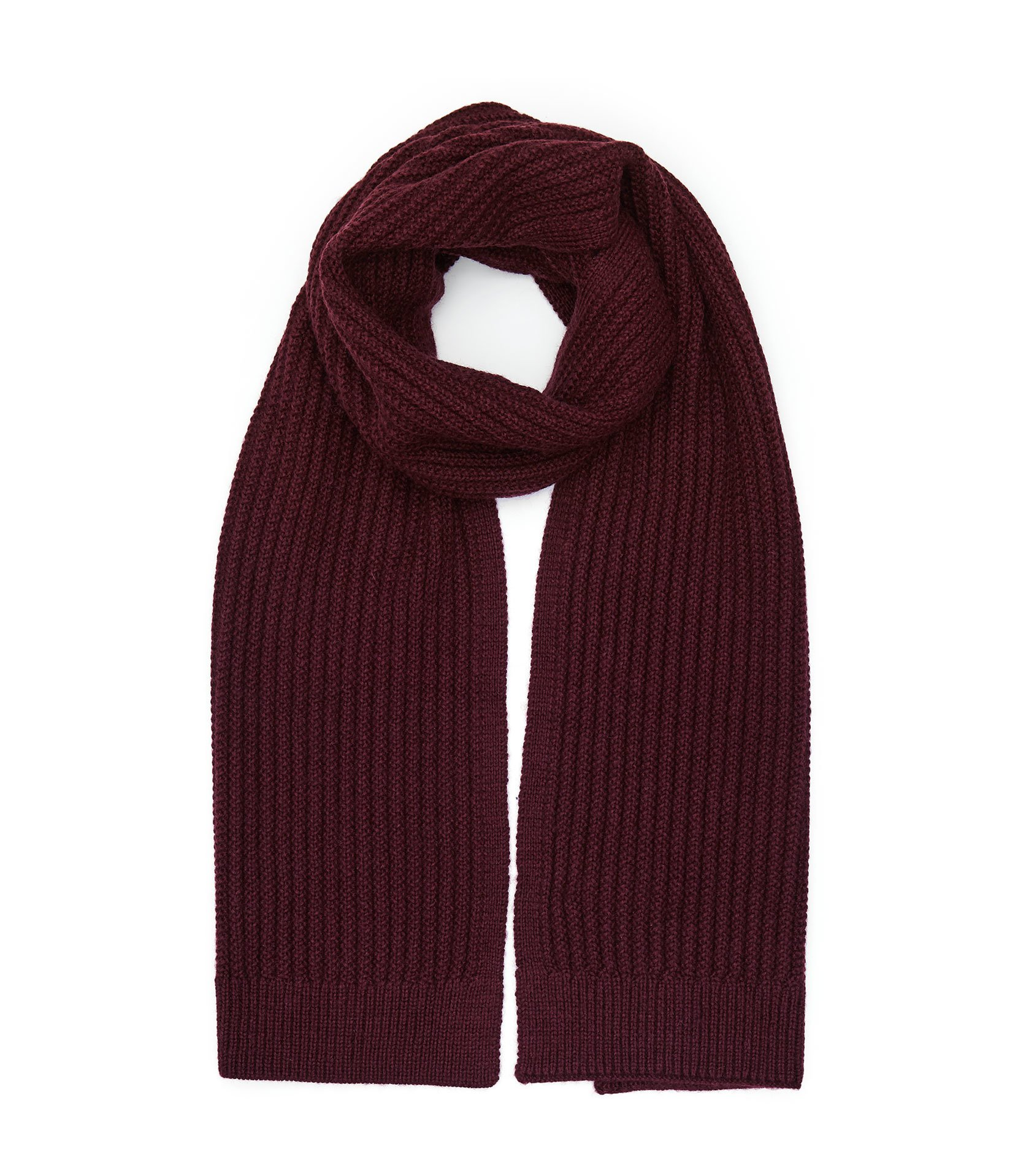 Reiss Bordeaux Selborne Ribbed Weave Scarf