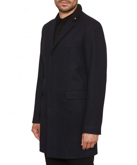 Peter Werth Cropley Trojan London Topcoat Navy