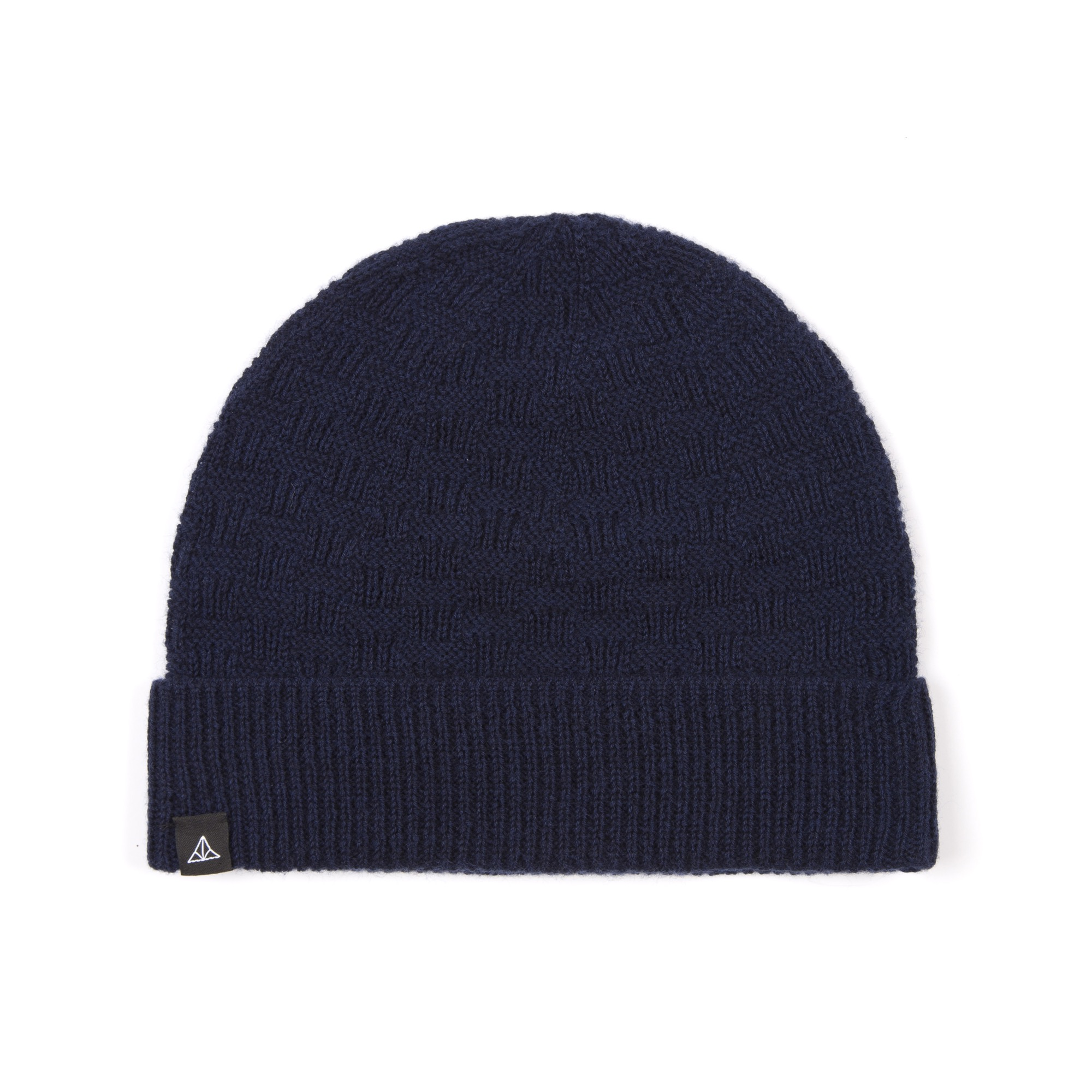Timothy Everest Navy Hashtag Merino Beanie