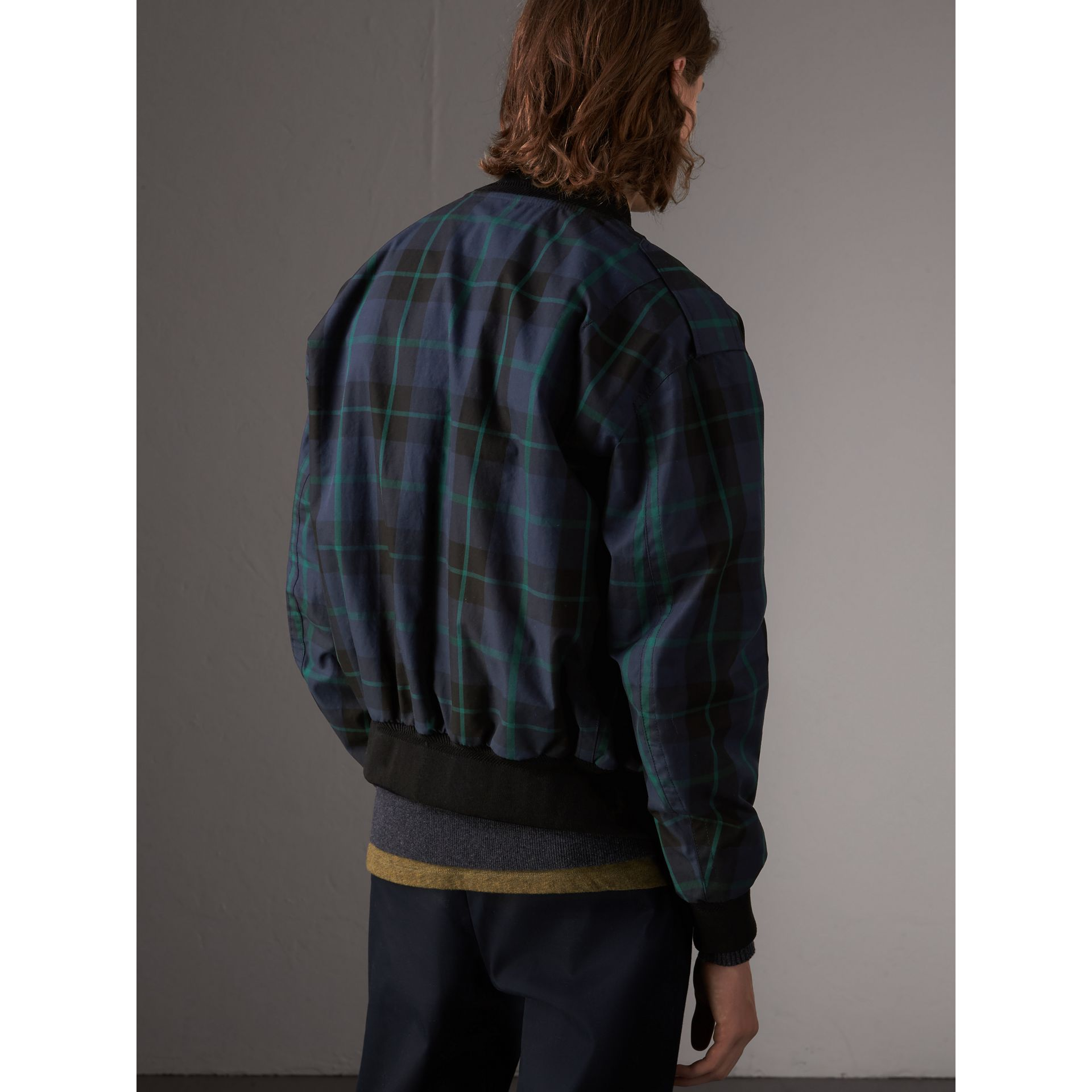148b71c14 Reversible Check Cotton and Nylon Bomber Jacket by Burberry