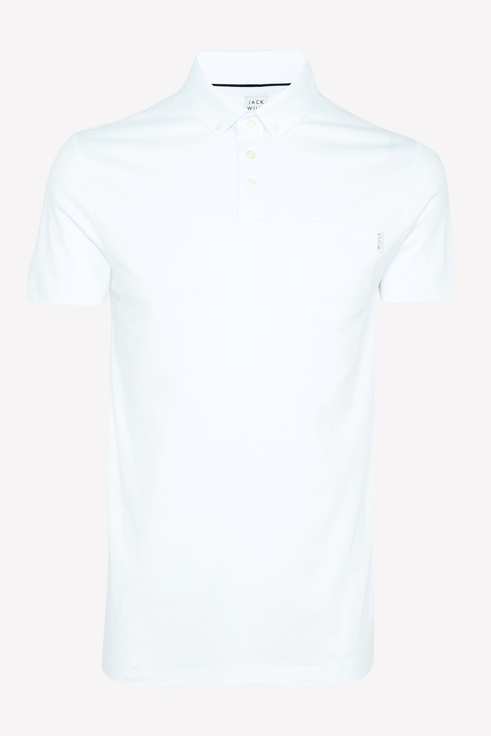 Jack Wills White ASTMOORE JERSEY POLO