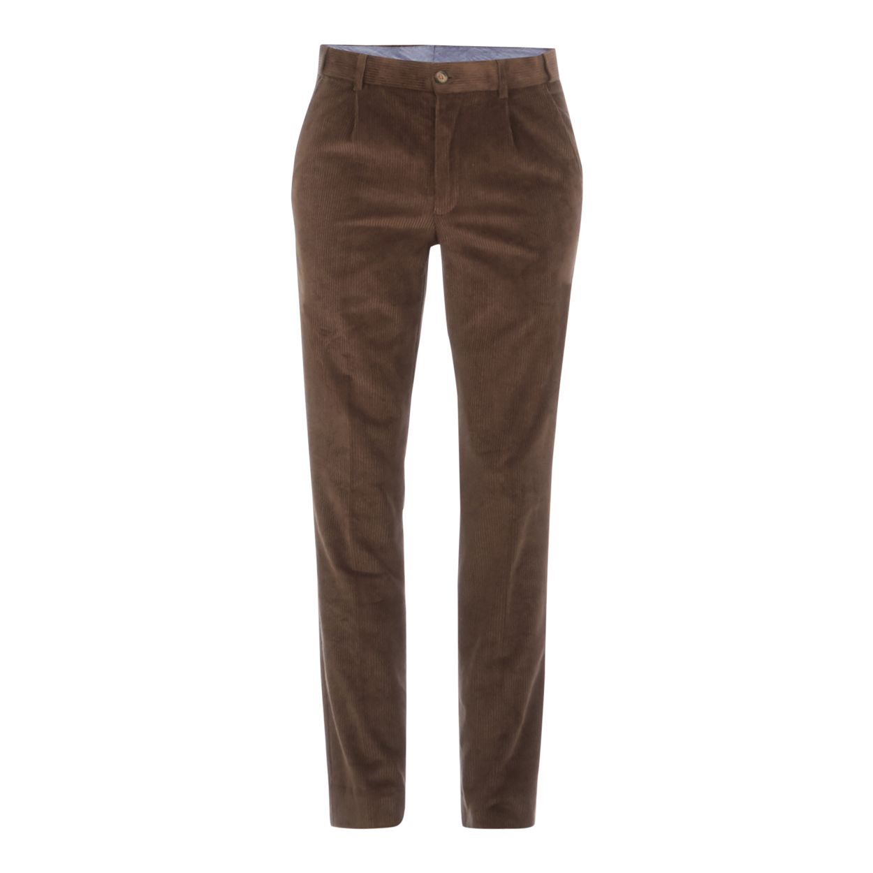 Maine New England Olive Dark green corduroy tailored fit trousers