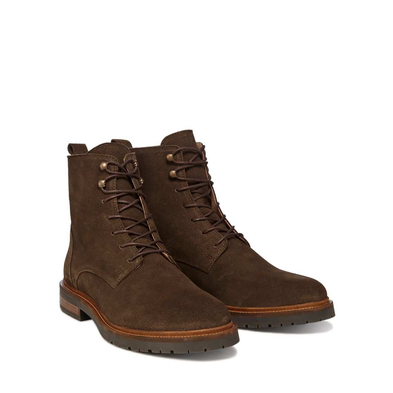 Hammond & Co. by Patrick Grant Khaki suede 'Hayling' lace up boots