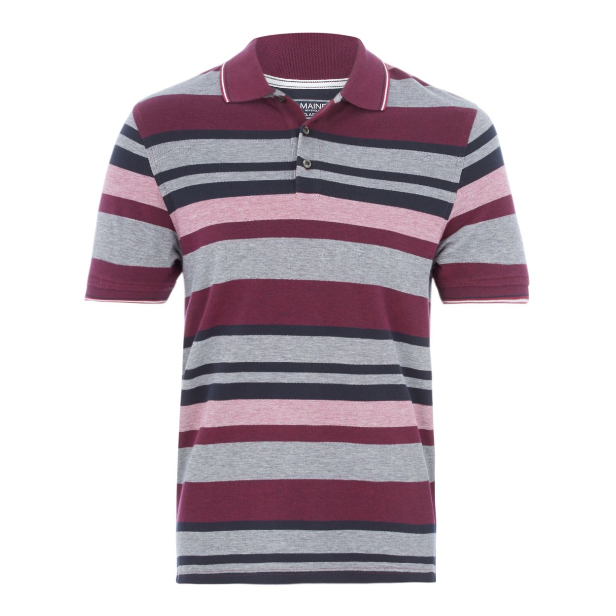 Maine New England Purple stripe tailored fit polo shirt