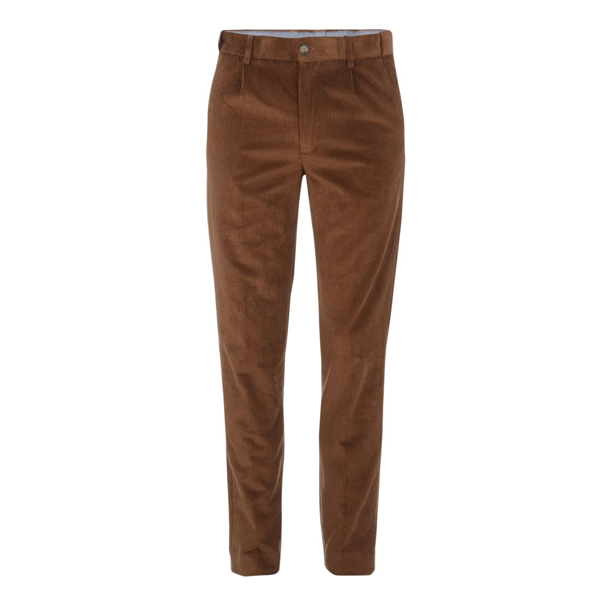 Maine New England Dark tan corduroy tailored fit trousers