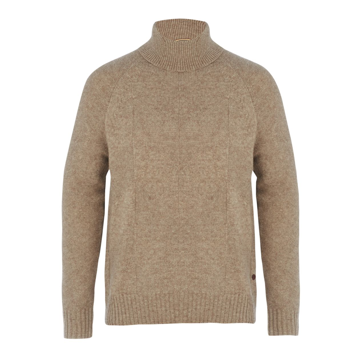 Hammond & Co. by Patrick Grant Natural chevron roll neck jumper