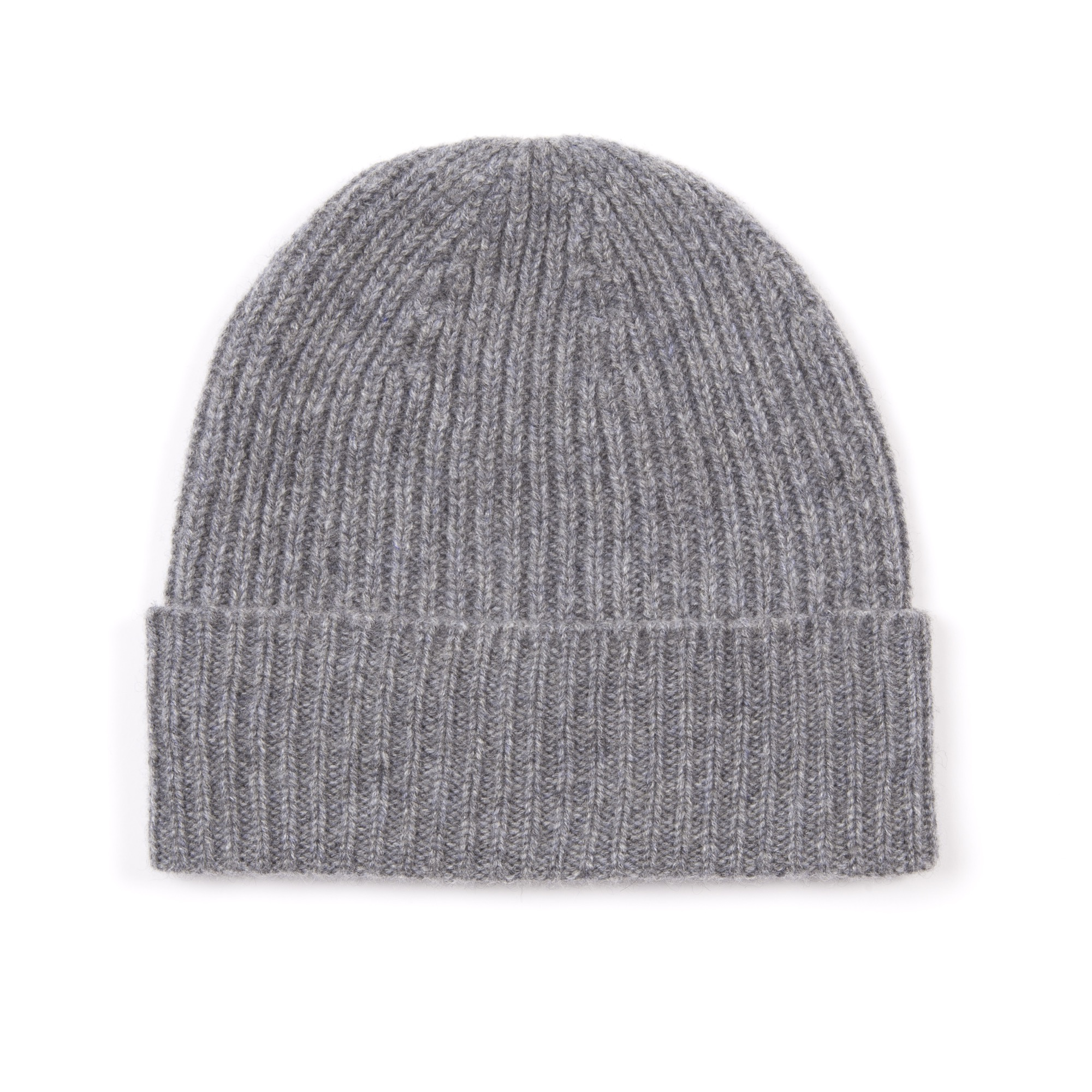 Timothy Everest Grey Ribbed Cashmere Hat