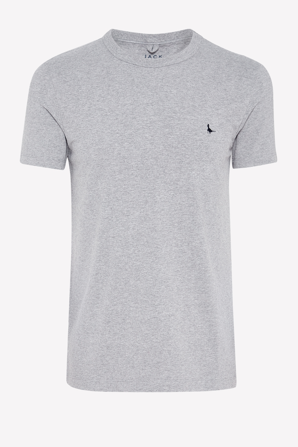 Jack Wills Grey LANDRIER STRETCH T-SHIRT