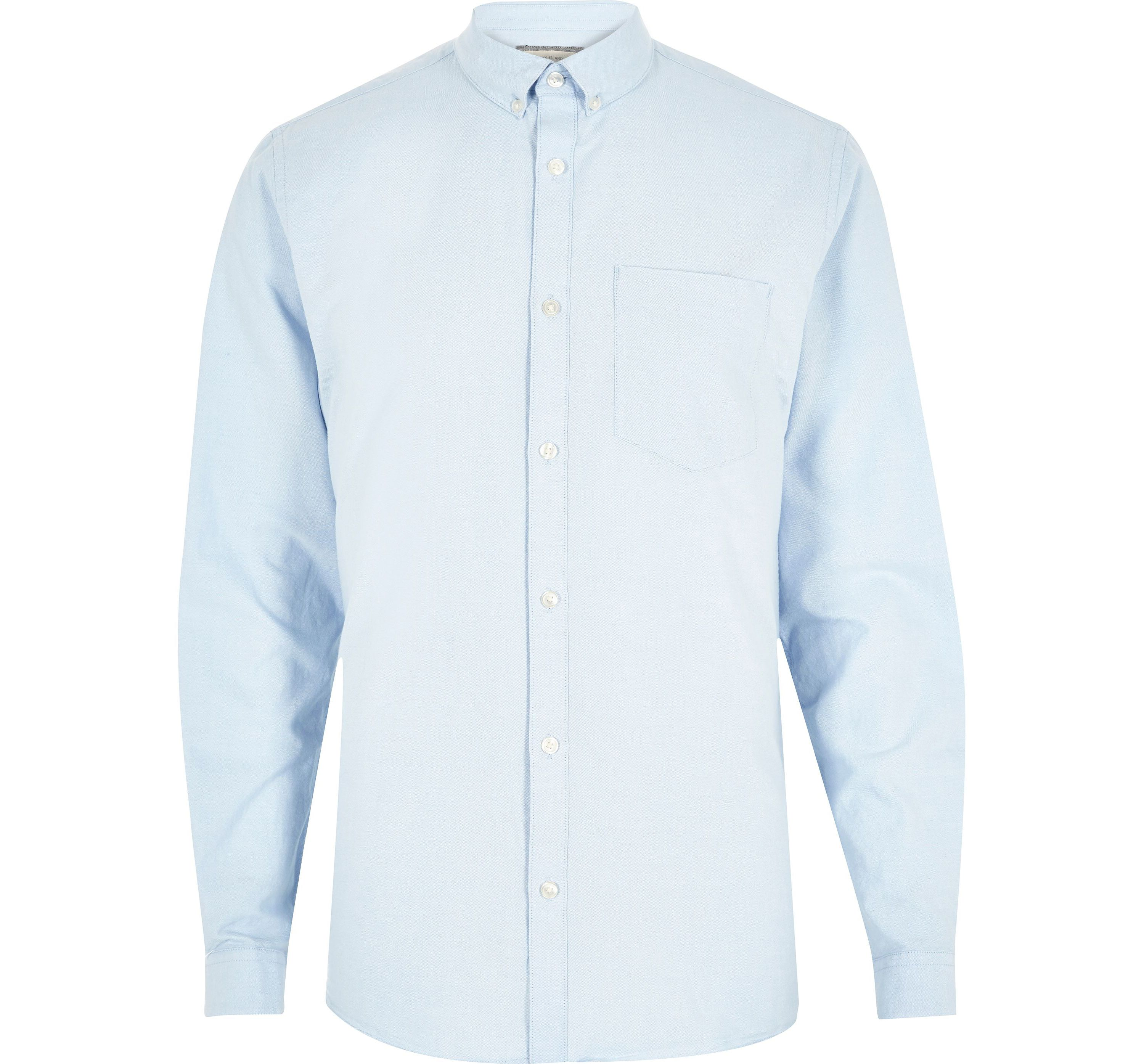 River Island Mens Big and Tall light Blue long sleeve shirt