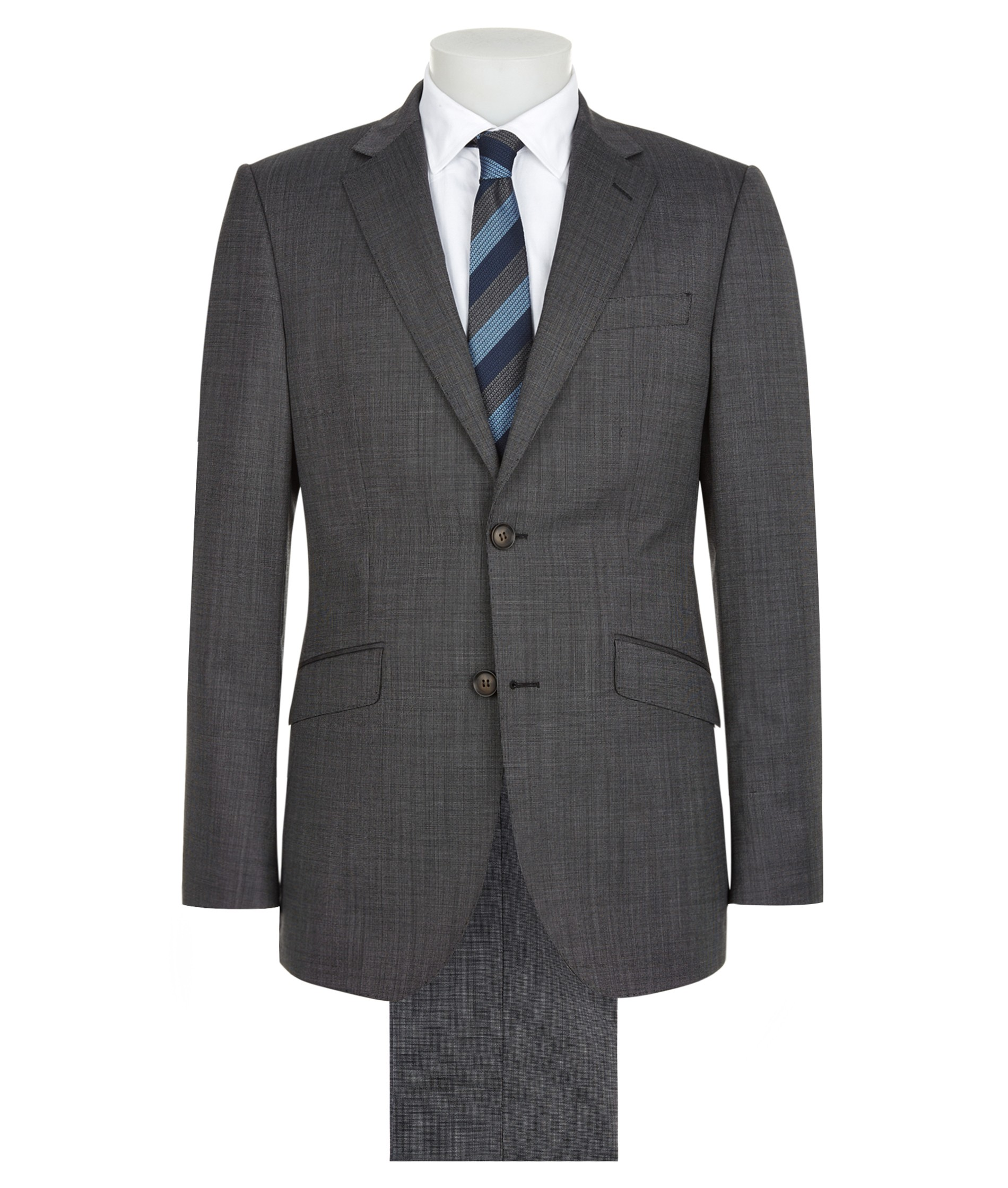 Nigel Hall Two Piece Wool Suit (Simon) - Grey Check