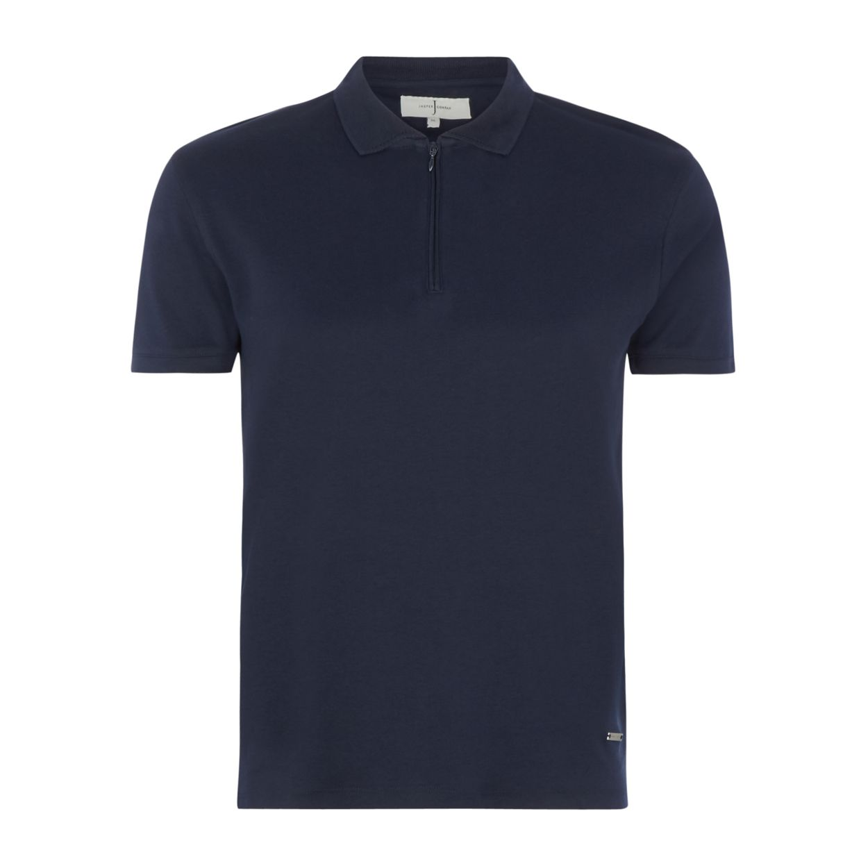 J by Jasper Conran Navy zip polo shirt