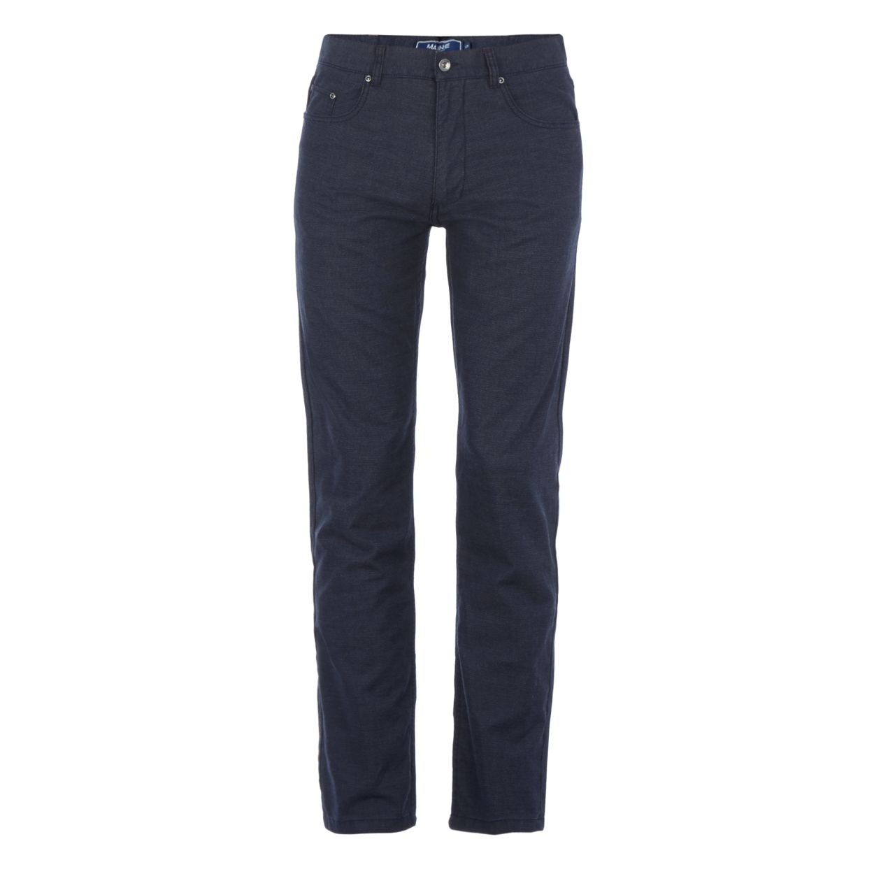 Maine New England Navy pin dot straight trousers