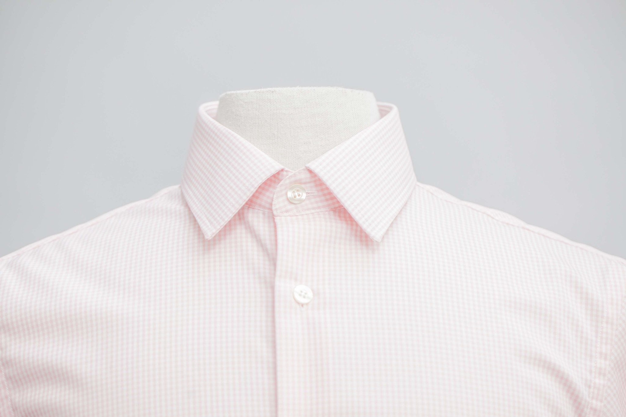 Smyth & Gibson Non-Iron Gingham Check Slim Fit Shirt in Pink
