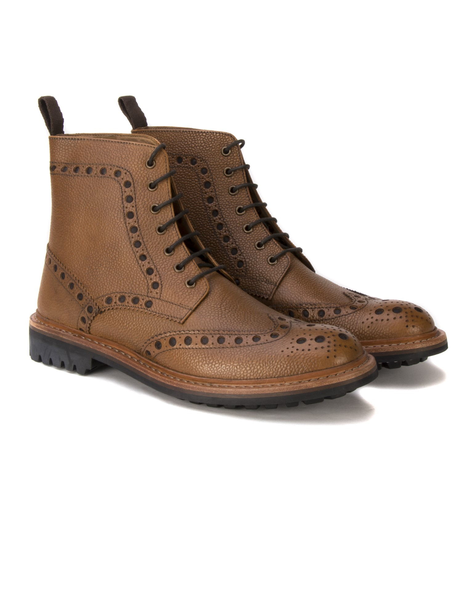 Ben Sherman Tan Goodyear Country Brogue Boot