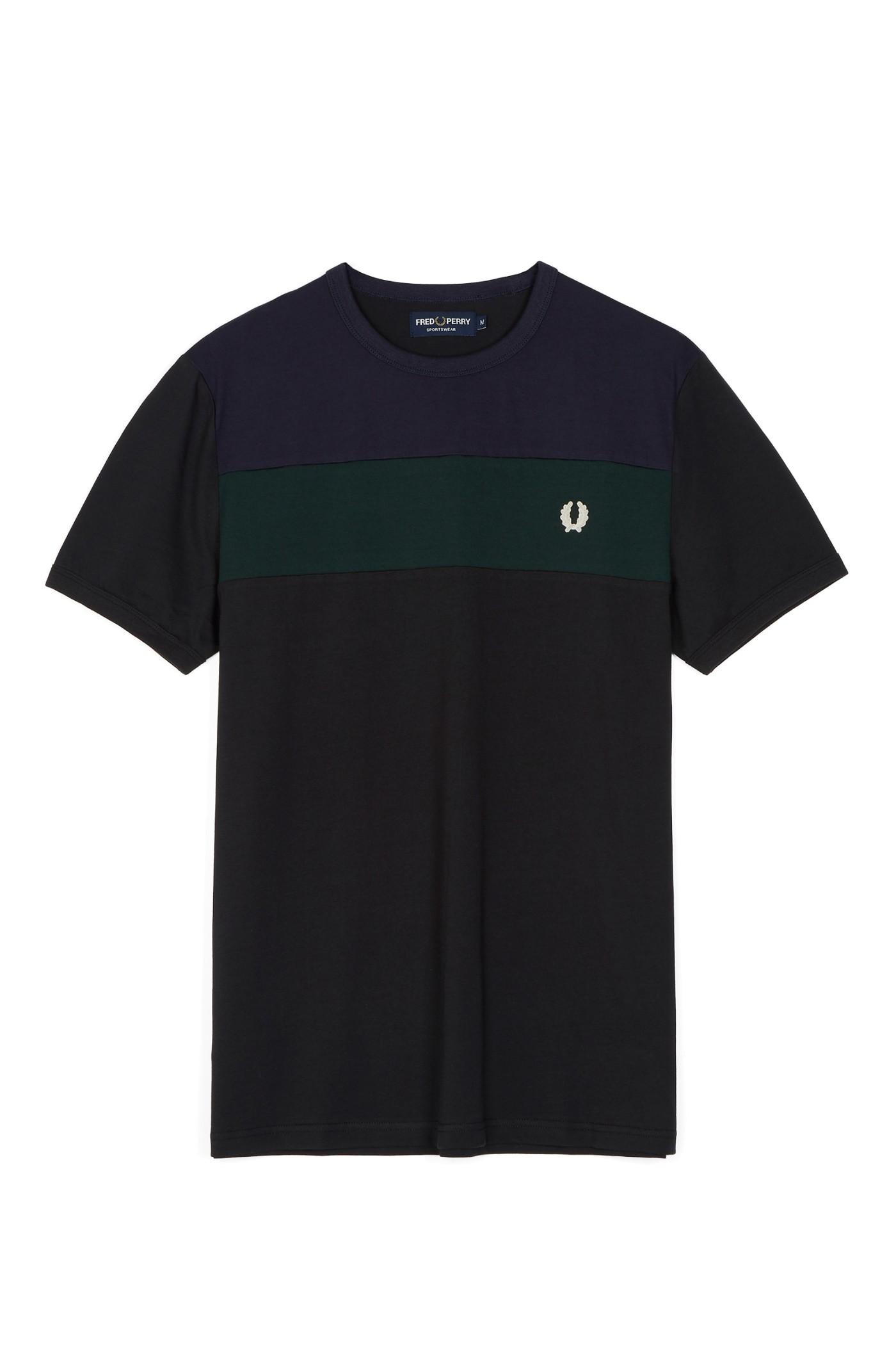 Fred Perry Sports Authentic Colour Block Panel T-Shirt