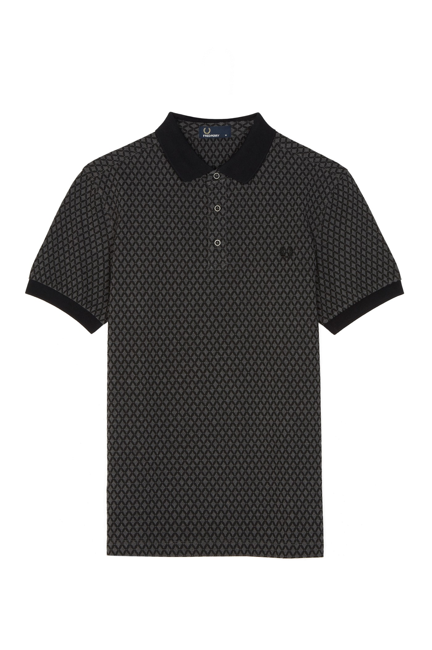 Fred Perry Graphic Print Piqué Polo Shirt