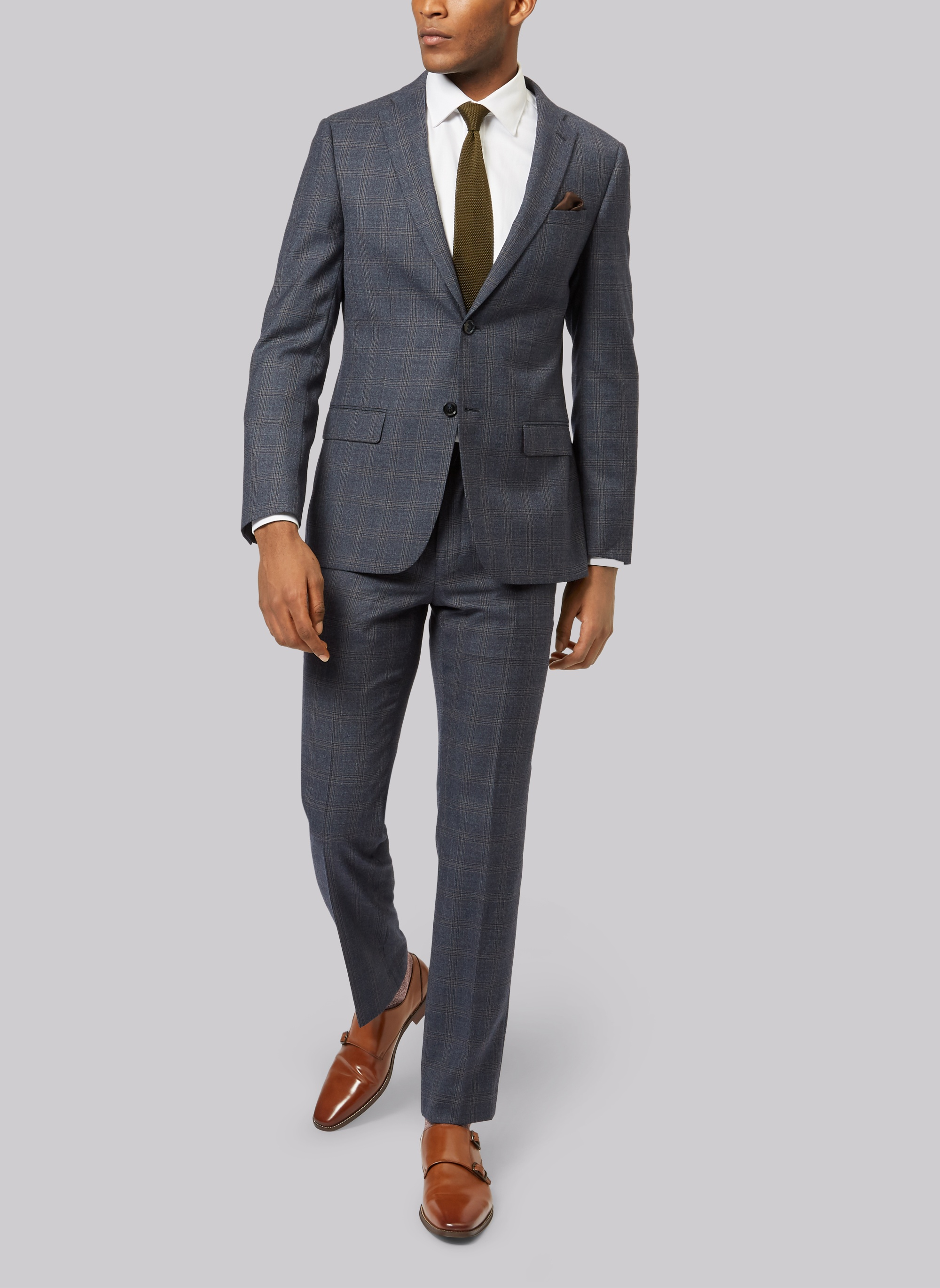 Ted Baker Tailored Fit Blue with Orange Jacket