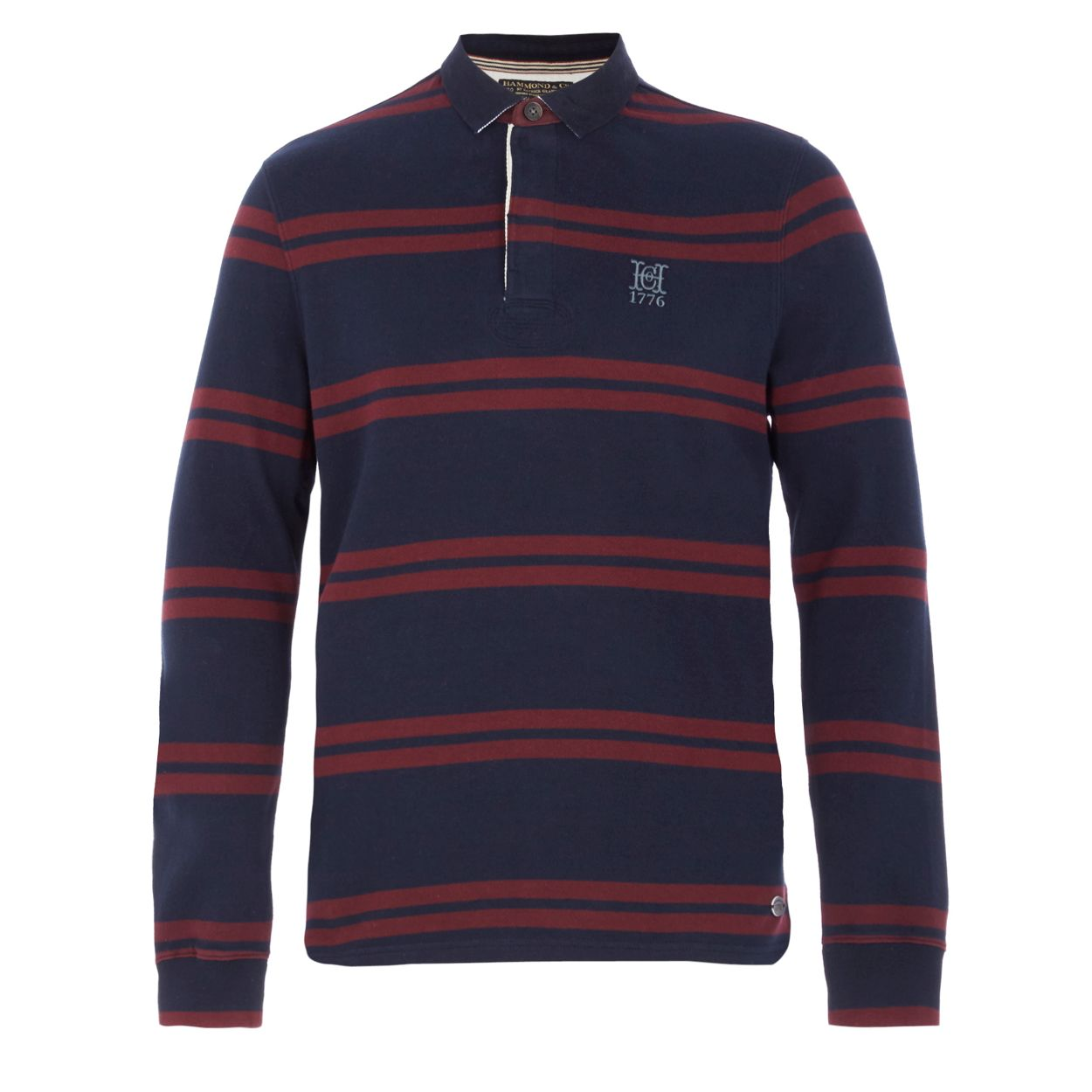 Hammond & Co. by Patrick Grant Navy striped rugby shirt