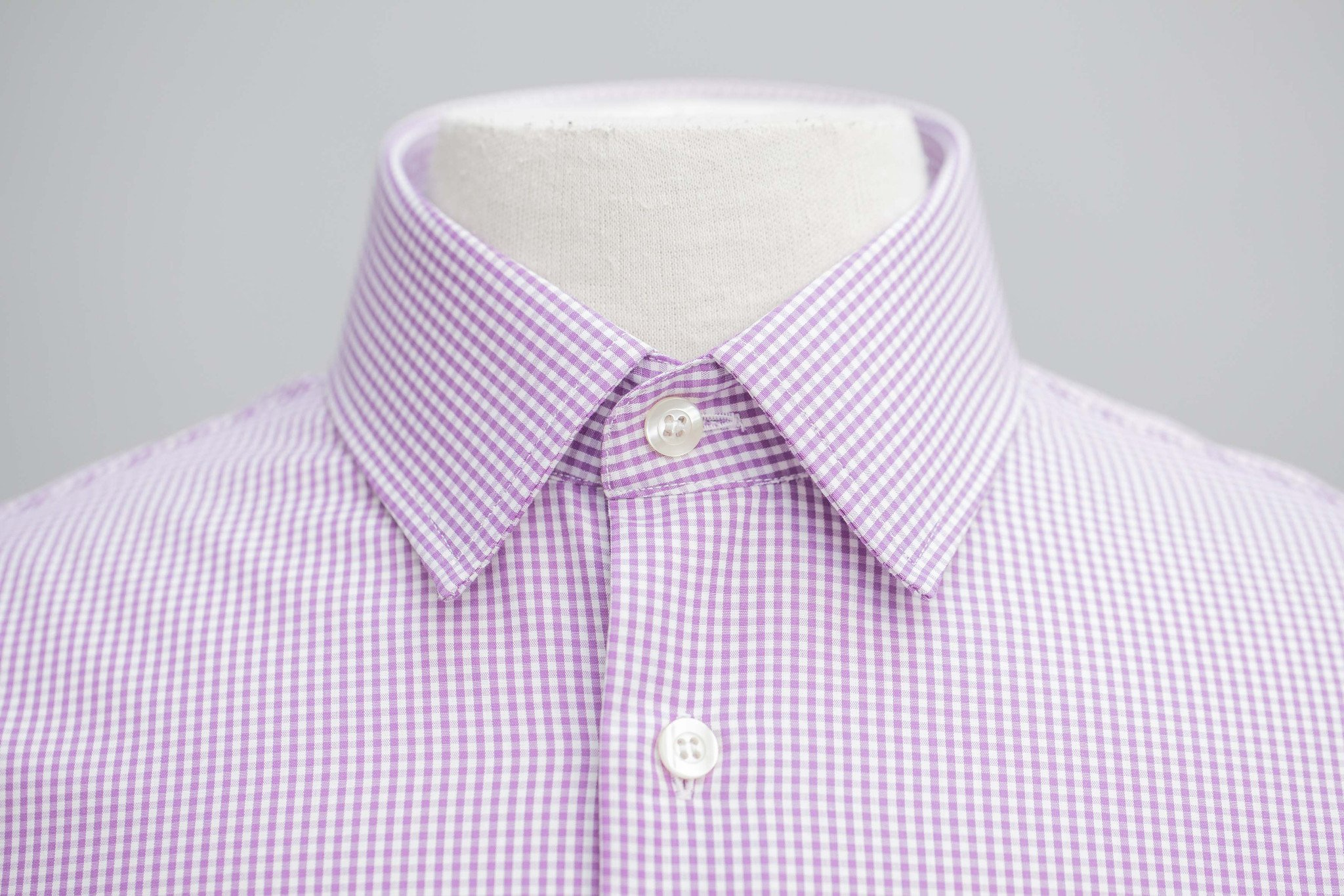 Smyth & Gibson Non-Iron Gingham Check Slim Fit Shirt in Purple