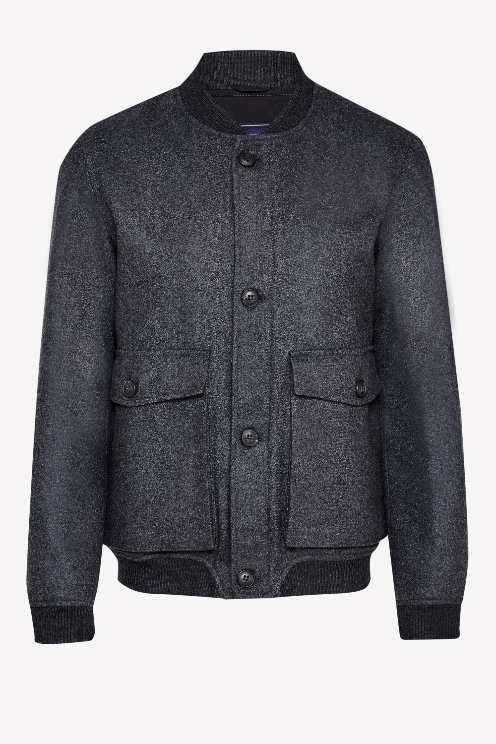 Jack Wills Charcoal BOWES WOOL BOMBER