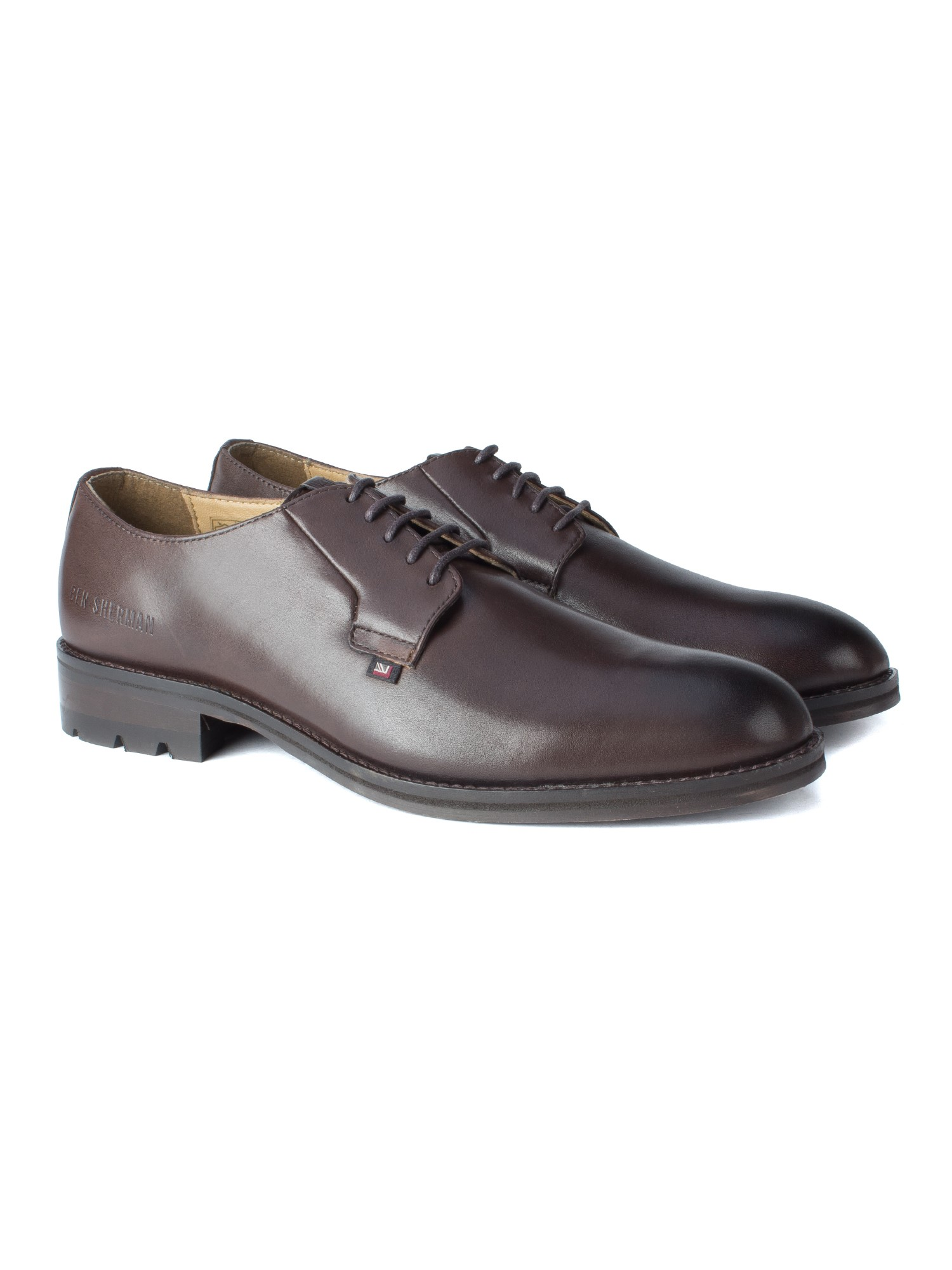 Ben Sherman Brown Supermarine Round Toe Shoe