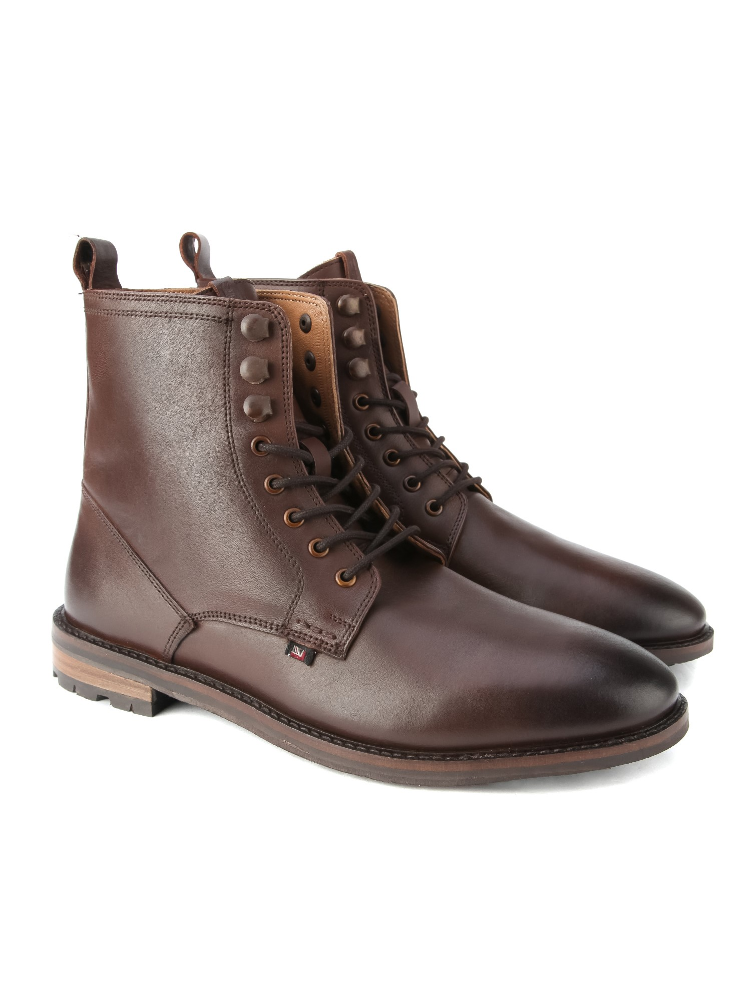 Ben Sherman Brown Earl Leather Lace Boot