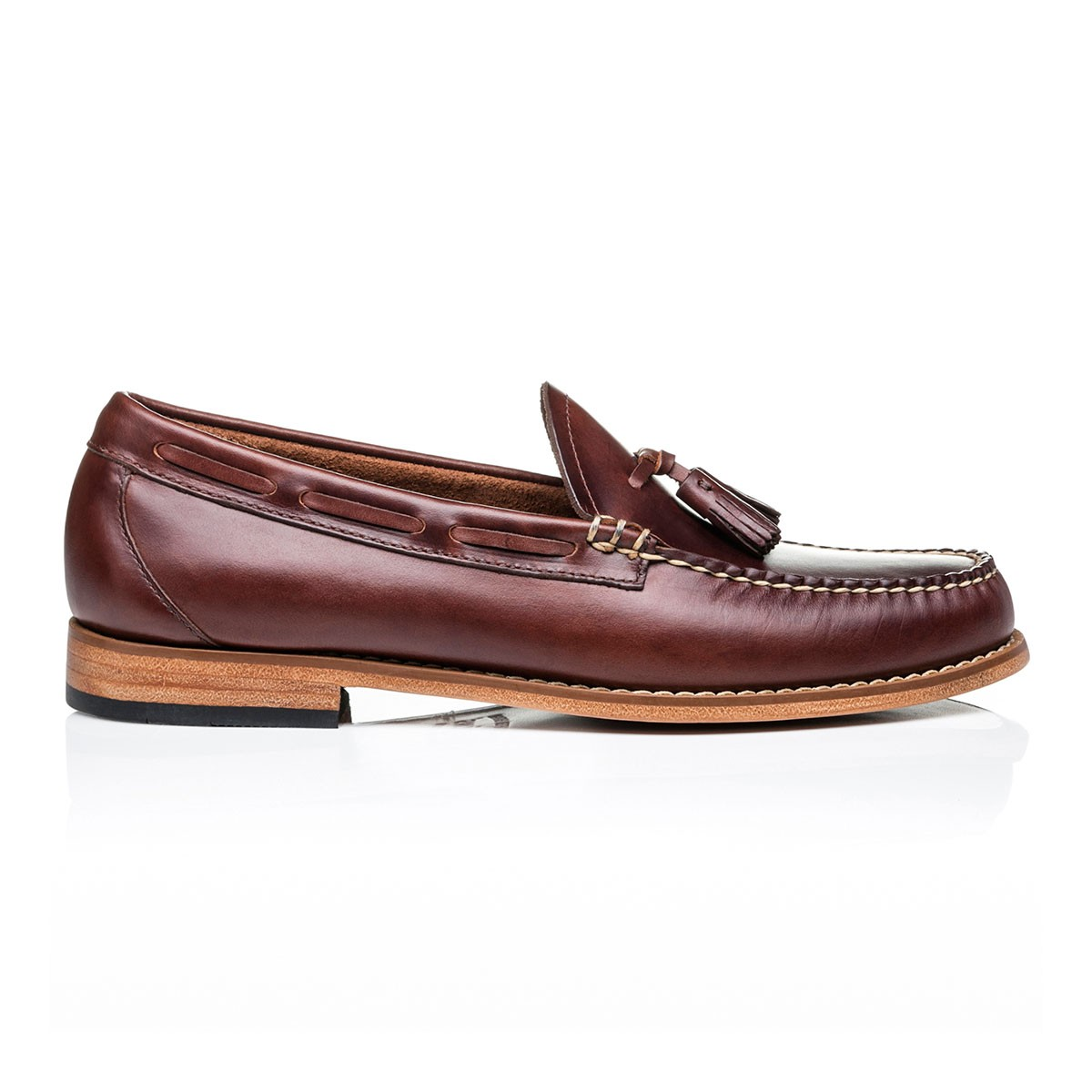 G.H. Bass & Co. Weejuns Larkin Pull Up Dark Brown Leather